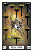 Ten of Wands Tarot card in Dragon Tarot deck