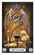 King of Wands Tarot card in Dragon Tarot deck