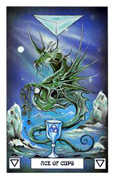 Ace of Cups Tarot card in Dragon deck