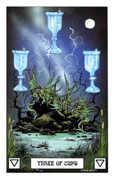Three of Cups Tarot card in Dragon deck