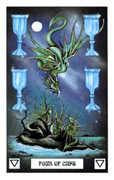 Four of Cups Tarot card in Dragon Tarot deck