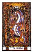 The Emperor Tarot card in Dragon deck