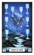 Eight of Cups Tarot card in Dragon Tarot deck