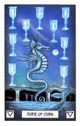 Nine of Cups Tarot card in Dragon deck