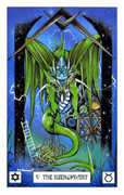 The Hierophant Tarot card in Dragon deck