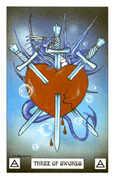 Three of Swords Tarot card in Dragon deck