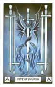 Five of Swords Tarot card in Dragon deck