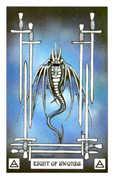 Eight of Swords Tarot card in Dragon deck