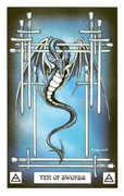 Ten of Swords Tarot card in Dragon deck