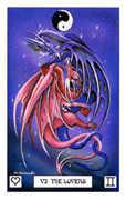 The Lovers Tarot card in Dragon deck