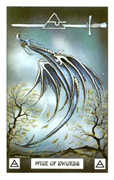 Page of Swords Tarot card in Dragon Tarot deck