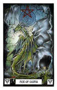 Ace of Coins Tarot card in Dragon deck