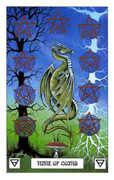 Nine of Coins Tarot card in Dragon Tarot deck