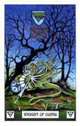 Knight of Coins Tarot card in Dragon deck