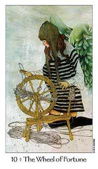 The Wheel of Fortune Tarot Card - Dreaming Way Tarot Deck
