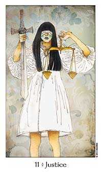 Justice Tarot Card - Dreaming Way Tarot Deck