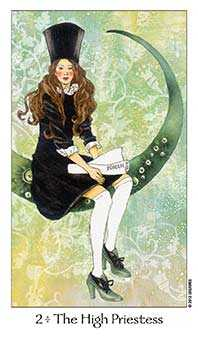 The High Priestess Tarot Card - Dreaming Way Tarot Deck