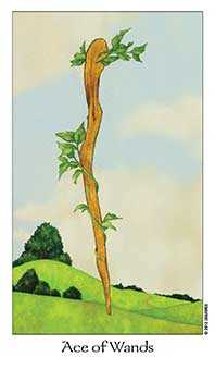 Ace of Staves Tarot Card - Dreaming Way Tarot Deck