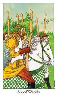 Six of Rods Tarot Card - Dreaming Way Tarot Deck