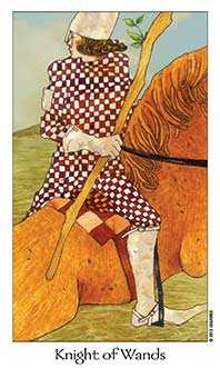 Prince of Staves Tarot Card - Dreaming Way Tarot Deck