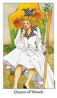 Queen of Batons Tarot Card - Dreaming Way Tarot Deck