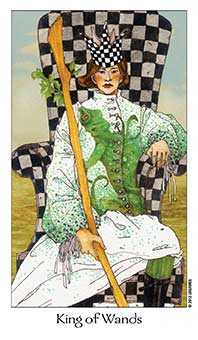 King of Staves Tarot Card - Dreaming Way Tarot Deck