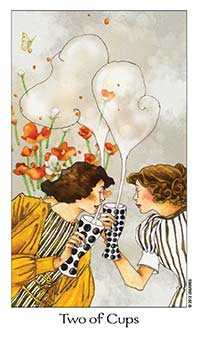 Two of Hearts Tarot Card - Dreaming Way Tarot Deck