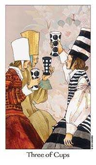 Three of Ghosts Tarot Card - Dreaming Way Tarot Deck