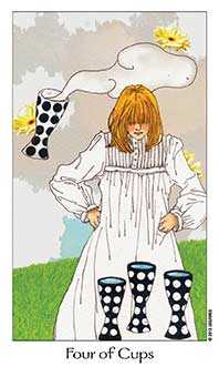 Four of Cups Tarot Card - Dreaming Way Tarot Deck
