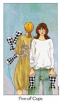 Five of Cups Tarot Card - Dreaming Way Tarot Deck