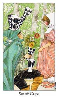 Six of Ghosts Tarot Card - Dreaming Way Tarot Deck
