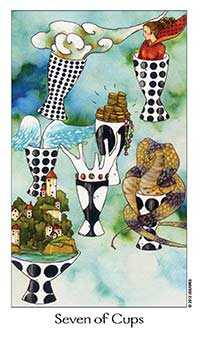Seven of Bowls Tarot Card - Dreaming Way Tarot Deck