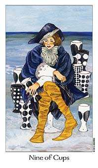 Nine of Cauldrons Tarot Card - Dreaming Way Tarot Deck