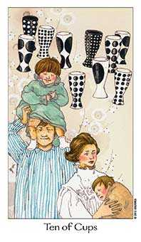 Ten of Cauldrons Tarot Card - Dreaming Way Tarot Deck
