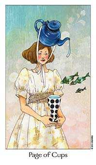 Daughter of Cups Tarot Card - Dreaming Way Tarot Deck