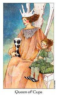 Queen of Bowls Tarot Card - Dreaming Way Tarot Deck