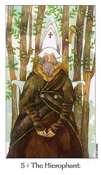 The Hierophant Tarot Card - Dreaming Way Tarot Deck