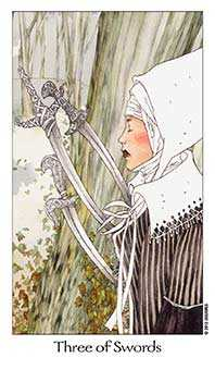 Three of Wind Tarot Card - Dreaming Way Tarot Deck