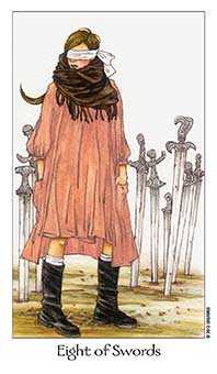 Eight of Swords Tarot Card - Dreaming Way Tarot Deck