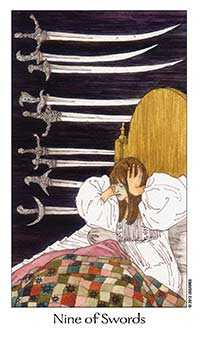 Nine of Wind Tarot Card - Dreaming Way Tarot Deck