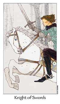 Knight of Spades Tarot Card - Dreaming Way Tarot Deck