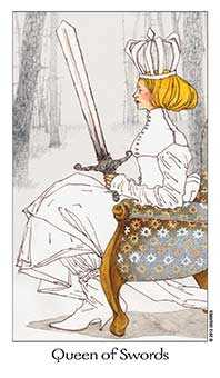 Queen of Swords Tarot Card - Dreaming Way Tarot Deck