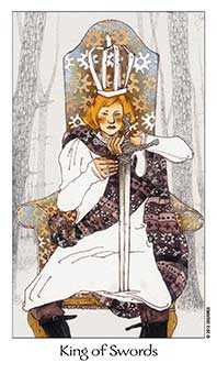 Roi of Swords Tarot Card - Dreaming Way Tarot Deck