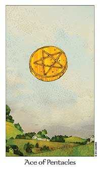 Ace of Discs Tarot Card - Dreaming Way Tarot Deck