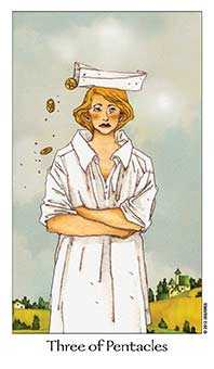 Three of Discs Tarot Card - Dreaming Way Tarot Deck