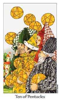 Ten of Diamonds Tarot Card - Dreaming Way Tarot Deck