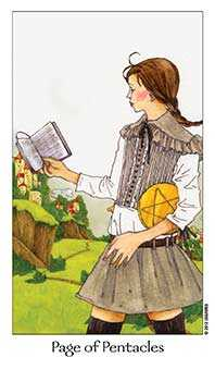 Daughter of Discs Tarot Card - Dreaming Way Tarot Deck