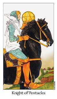 Cavalier of Coins Tarot Card - Dreaming Way Tarot Deck