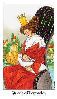 Queen of Discs Tarot Card - Dreaming Way Tarot Deck
