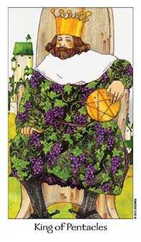 King of Coins Tarot Card - Dreaming Way Tarot Deck